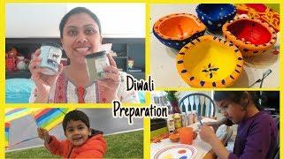 Vlog - Diwali Shopping and preparation I Painting Diya I Bath and Body Works Haul