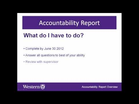 An Overview of the Annual Administrative Accountability Report - 2012