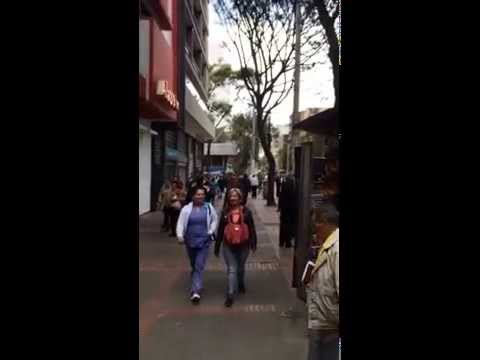 Dancing on the streets of Bogotá, Colombia