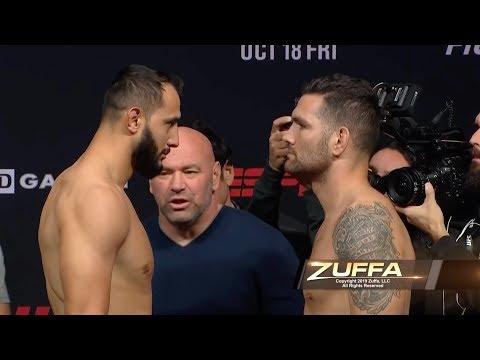 UFC Бостон: Обзор церемонии взвешивания