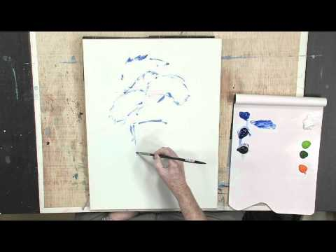 How to Paint Abstract Flowers Using Lukas Berlin Oils: Part 1