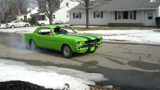 1965 Ford Mustang Coupe First Burnout