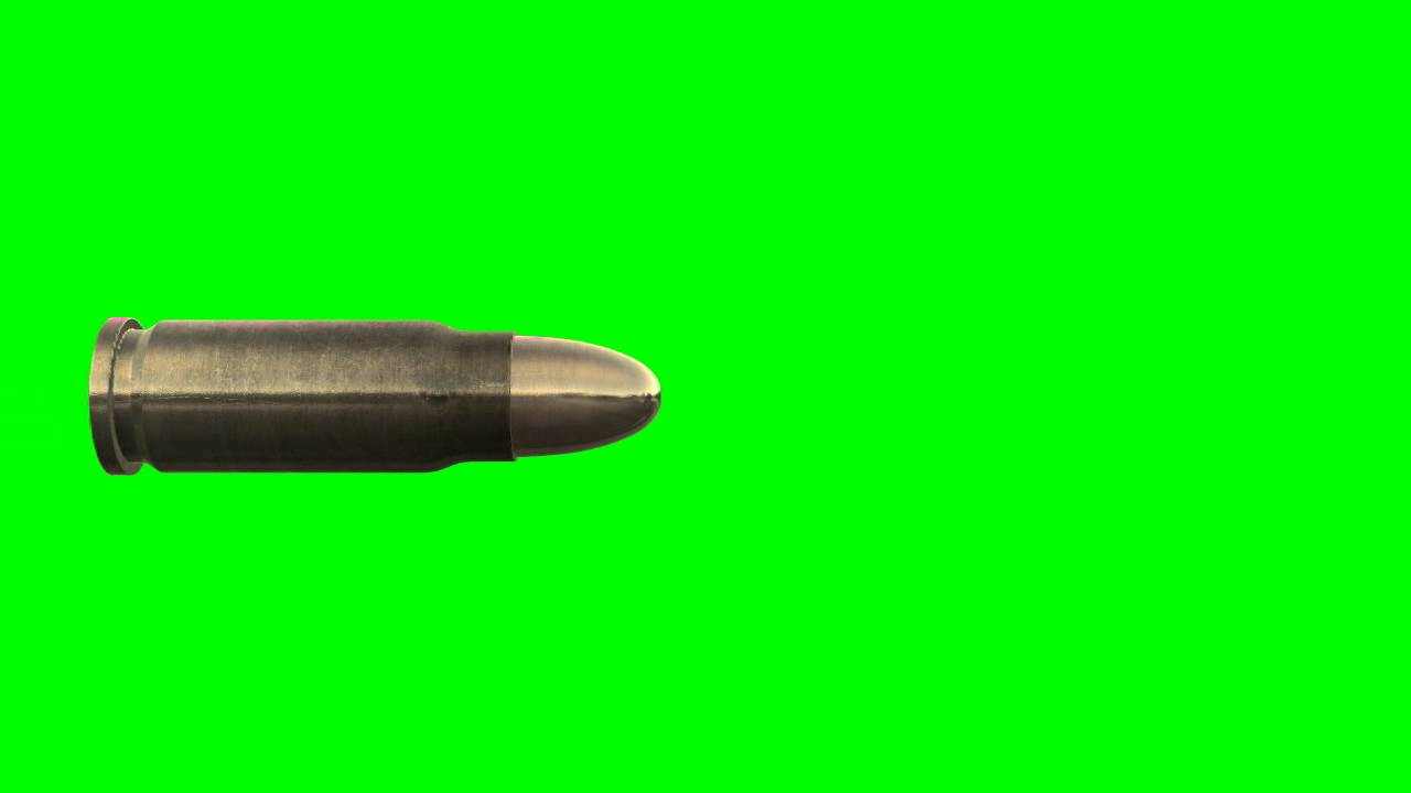 Slow motion flying bullet in green screen free stock footage youtube publicscrutiny Gallery