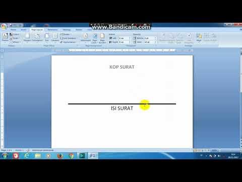 Cara Membuat Garis Bawah Double Ganda Tebal Tipis Pada Kop Surat di Microsoft word 2007/2010/2013