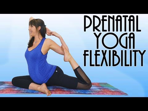 Prenatal Yoga For Low Back Pain, Flexibility & Open Hips (All Trimesters)   30 Minute Free Class