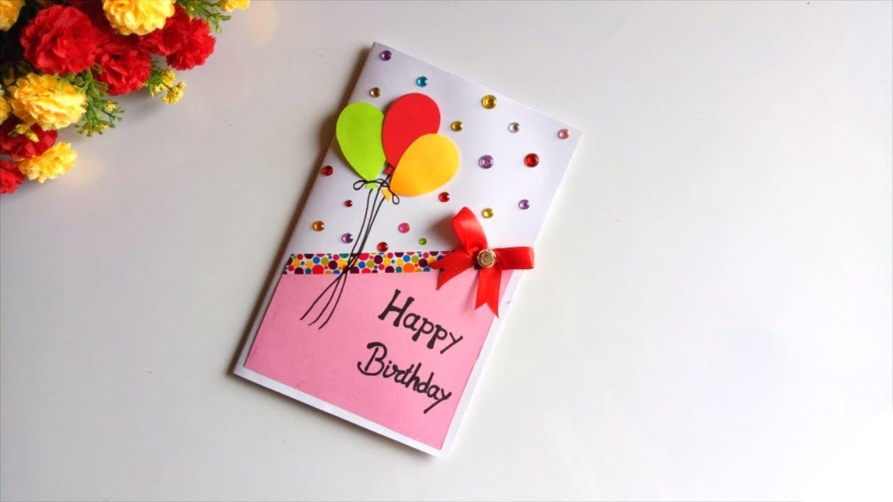 Beautiful Handmade Birthday Card Idea Diy Greeting Cards For Birthday Youtube