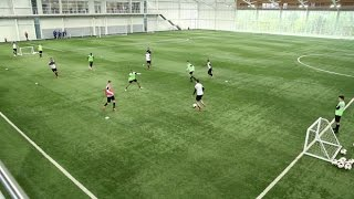 how to perfect the possession game   soccer passing drill   nike academy