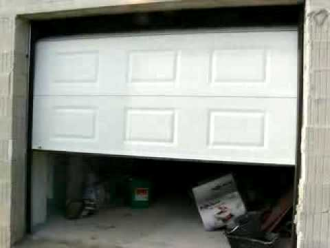 Motorisation porte sectionnelle youtube - Porte garage sectionnelle brico depot ...