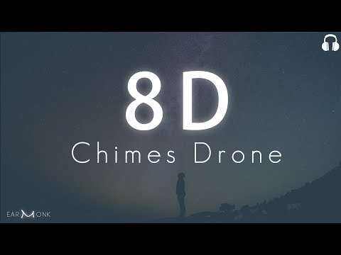 8D Meditation   Heavenly Chimes + Drone + Waves