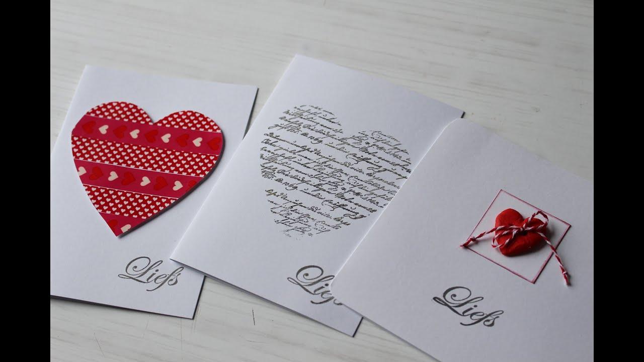 New Zelf leuke Valentijnsdag kaarten maken tutorial DIY - YouTube @FD68