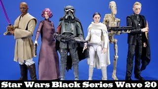 Star Wars Black Series Wave 20 Padme, Mace, Holdo, Battle Droid, Mimban Han, and Dryden Vos Review