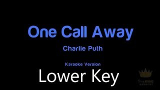 Charlie Puth - One Call Away (Lower Key) Instrumental