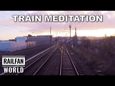 3 hours of relaxing meditation music during a train cab ride in Belgium via Brussels and Ghent