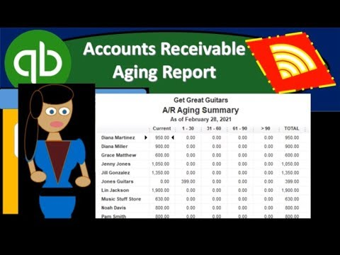 QuickBooks Online 2019 Accounts Receivable Aging Report
