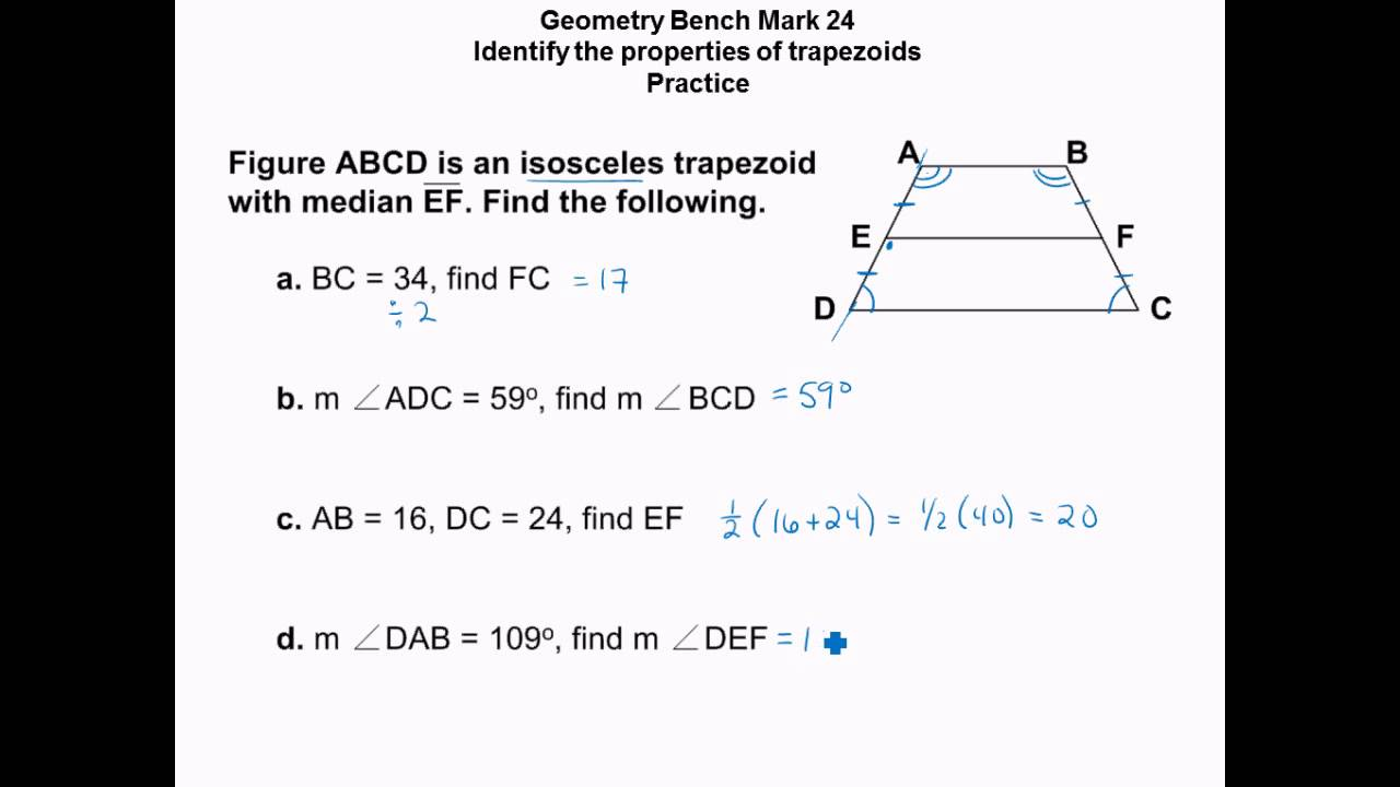 Geometry midsegment of trapezoid and triangle youtube geometry midsegment of trapezoid and triangle ccuart Choice Image