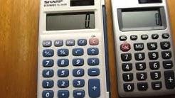 $5 calculator comparison - Sharp EL-243S vs. Casio HS-8VA