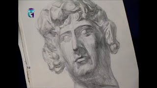 Уроки рисования (№ 113) карандашом. Рисуем человека: голова