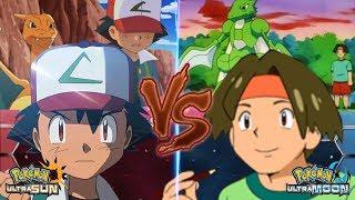 Pokemon Battle USUM: Ash Vs Tracey (Ash's Companion Face Off!)
