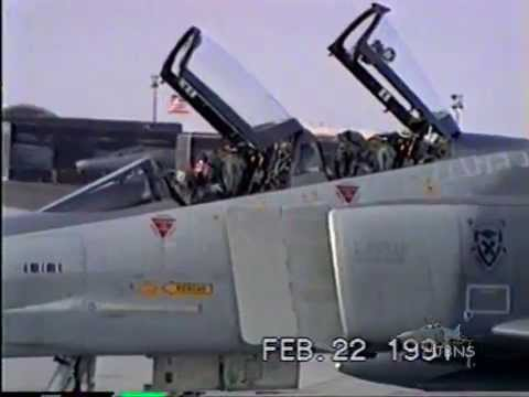 F4 RF4 Desert Storm 1991 LOW FLYING Phantom NVANG F-4 RF-4 Reno ANG