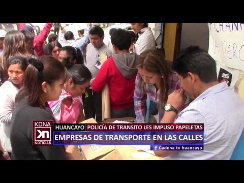 EMPRESAS DE TRANSPORTES EN LA CALLE CADENA NOTICIAS