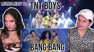 Latinos react to TNT Boys as Jessie J, Ariana & Nicki- BangBang  Your face sounds familiar REACTION