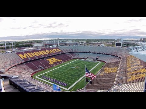 TCF Bank Stadium Drone Flyover