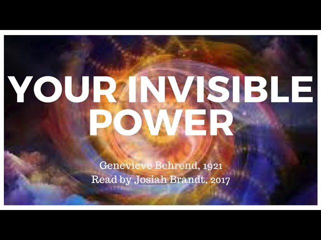 Your Invisible Power - Genevieve Behrend: Read by Josiah Brandt [Full Audiobook]