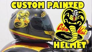 Cobra Kai style Custom painted Helmet