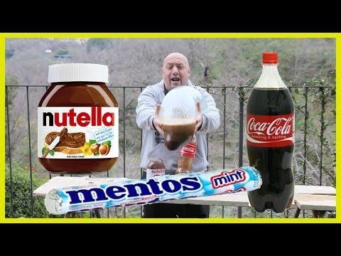 Coke + Nutella + Mentos + Durex ITALIA world record