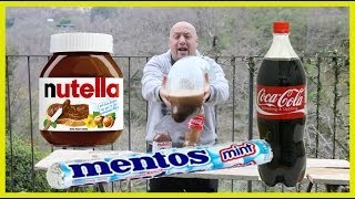 Video Coke + Nutella + Mentos + Durex ITALIA world record download MP3, 3GP, MP4, WEBM, AVI, FLV Desember 2017