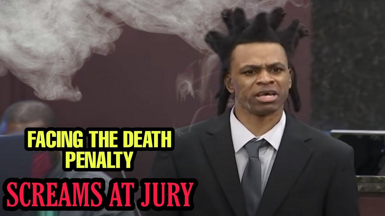 MAN REPRESENTING HIMSELF in COURT SCREAMS at JURY