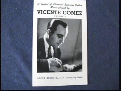 "VICENTE GOMEZ   PLAYS  ""GRAN JOTA""  / 1940"