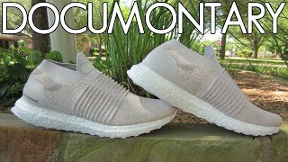 449258dfa8a3f adidas Ultra BOOST Laceless Chalk Pearl Beige • Review   On-Feet +  Sneakerboard ...