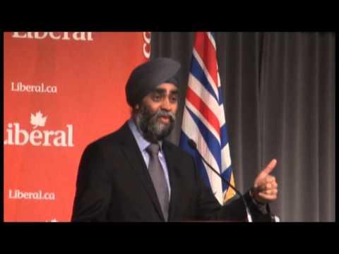 Harjit Sajjan Defence Minister Canada Mar 2016 Victoria BC