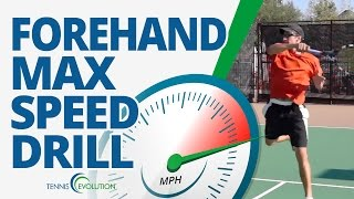 TENNIS FOREHAND DRILL   Speed Up Your Tennis Forehand With This Drill