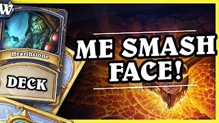 ME SMASH FACE! -  AGGRO (FACE) SHAMAN - Hearthstone Deck Wild (Witchwood)