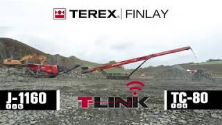 Terex Finlay J 1160 jaw crusher & TC-80 conveyor