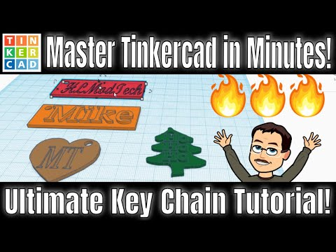 4 Sweet Key Chains - Crazy FAST! | Ultimate TinkerCAD Key Chain Tutorial! thumbnail