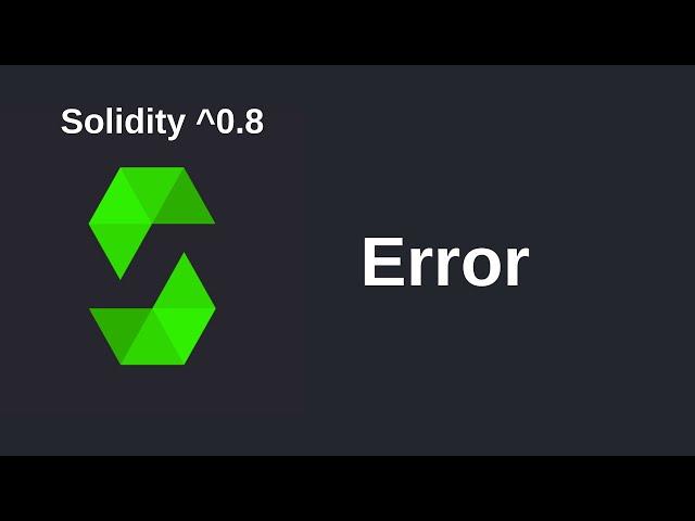 Error | Solidity 0.8