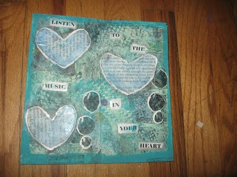 How to make a deconstructed Art Journal /Part One/ How to make Deconstructed Art Journal Pages