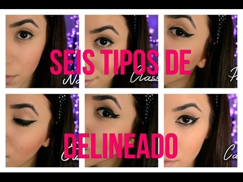 6 Tipos de Delineados Diferentes | 6 Different Eyeliner Looks Videos De Viajes