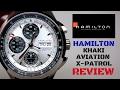 (4K) HAMILTON KHAKI AVIATION X-PATROL MEN'S WATCH REVIEW MODEL: H76566351
