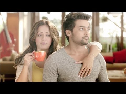 Surya and Jyothika in Latest Nescafe Sunrise TVC with Surya Singing | Hd 1080p