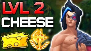 connectYoutube - ULTIMATE LVL 2 INVADE CHEESE KAYN | HOW TO MAKE THE ENEMY JUNGLE NON-EXISTANT!