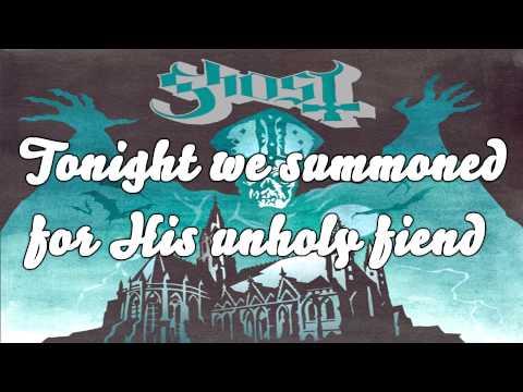 Ghost (B.C.) - Ritual - Lyrics on Screen