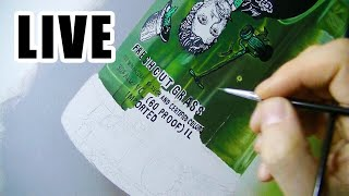 Painting Live - Green Bottle - 13th
