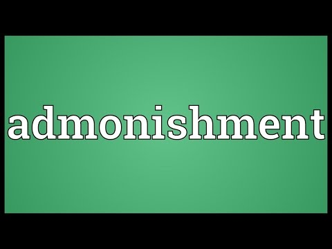 Admonishment Meaning