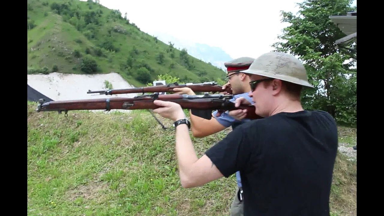 Lee Enfield No1 MKIII Vs Mauser Gewehr 98 (English Subtitles) HD