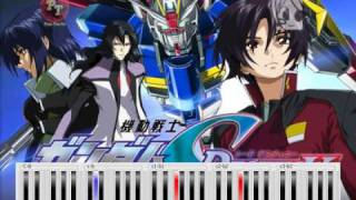 Gundam Seed Destiny - Shinkai No Kodoku - Piano Tutorial