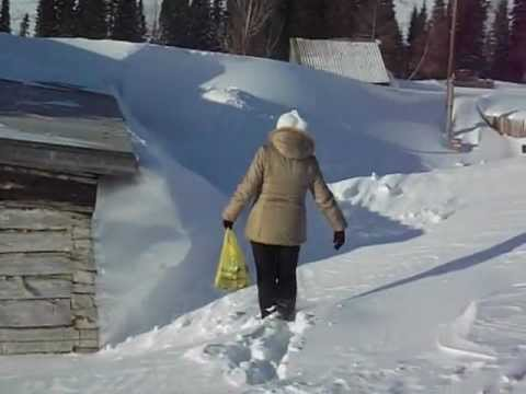 Алтай зимой 2012 - 2013 год